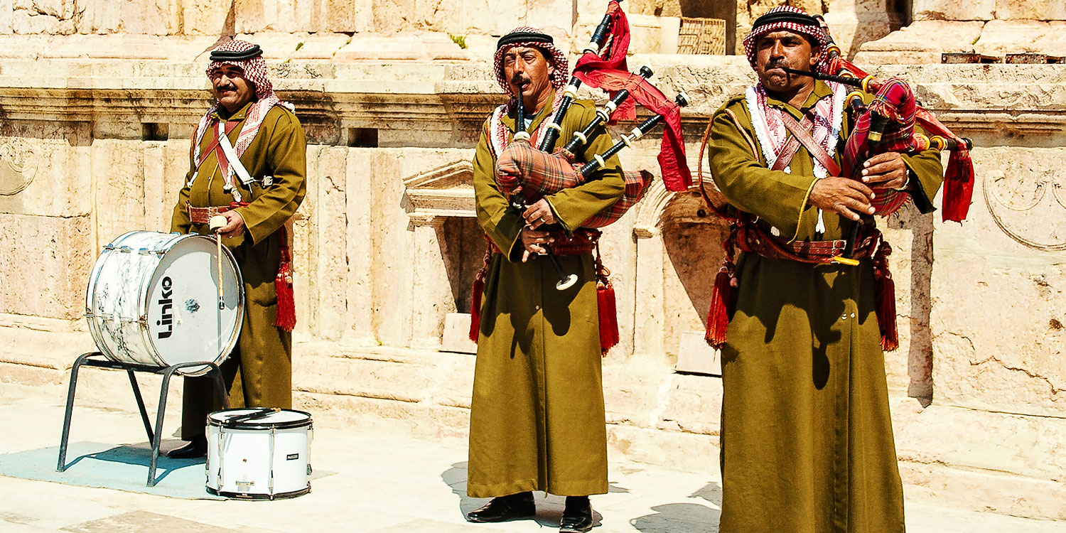 The Battle of the Bagpipers: Jerash
