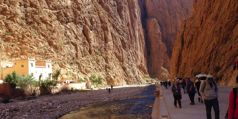 Trek the limestone river canyon!