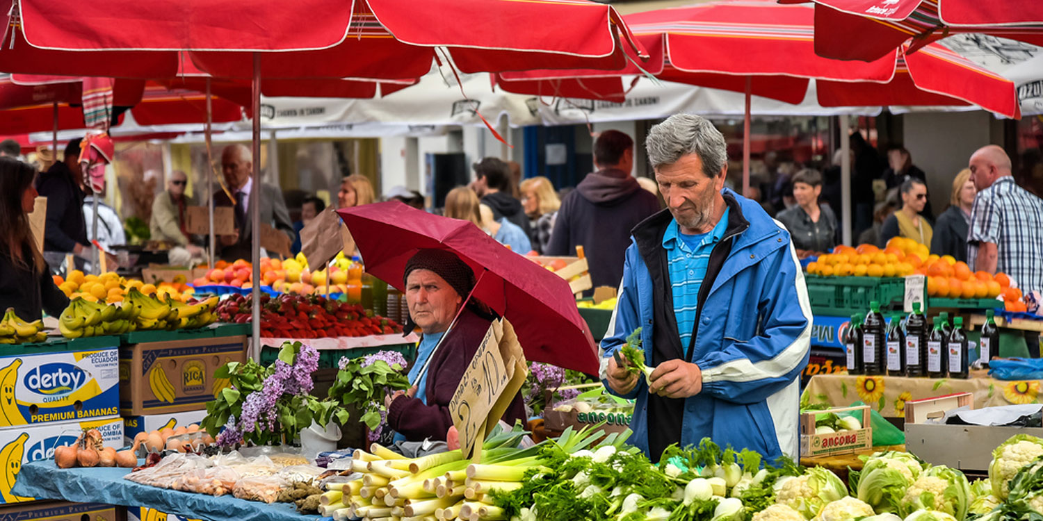 The Dolac Open Air Market | Zagreb