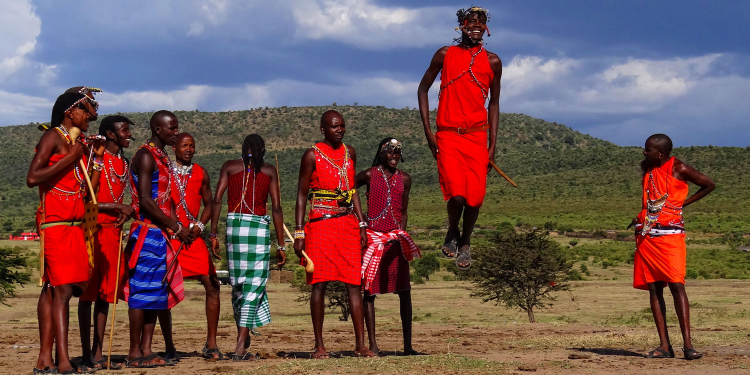 Meet the scarlet-robed Masai Warriors