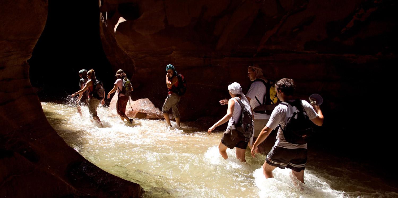 Trek through Wadi Mujib